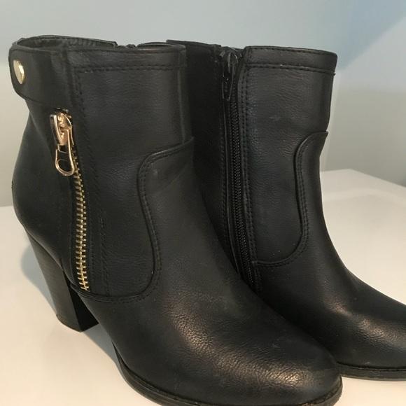 Apt 9 Kohls Black Leather Booties Size